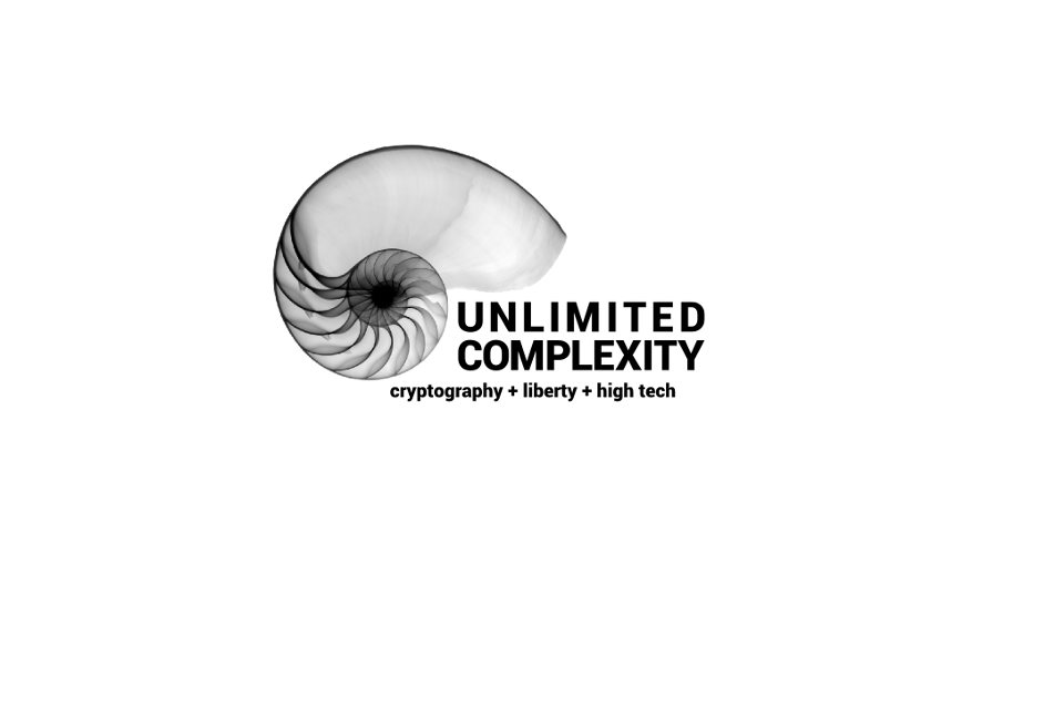 Unlimited Complexity. Cryptography, Liberty, High Technologies.
